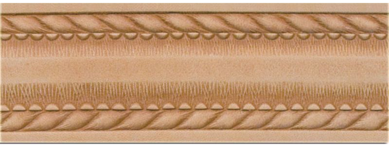 A factory embossed belt blank